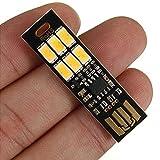 Kasstino Portable Mini Pocket Card Lamp 6 LED Nightlight USB Power Light Touch Dimmer