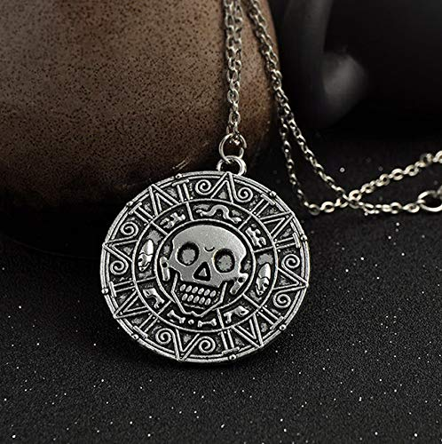 Mikash Hot Pirate of The Caribbean Cursed Aztec Coin Medallion Pendant Fashion Necklace | Model NCKLCS - 39424 |]()
