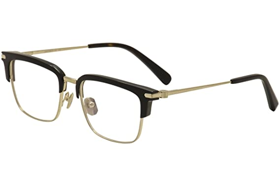 c2100750cc5c7 Image Unavailable. Image not available for. Color  Brioni BR 0007O 001  Night   Day Black Gold Plastic Square Eyeglasses 53mm