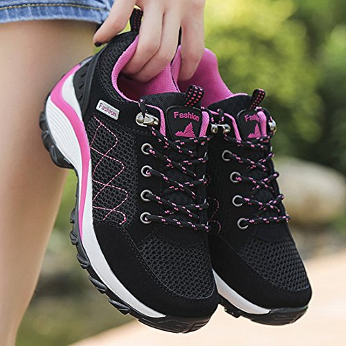 Breathable Jogging Sports Athletic Fitness Running Women's Sneakers Black Gym Mesh JINGJING Lightweight Shoes WxwvqUvY0