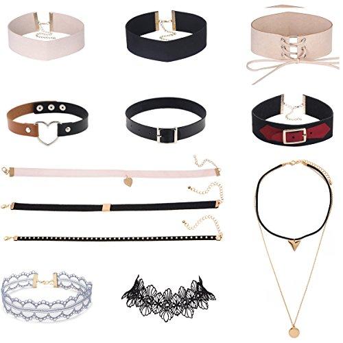 Tpocean Velvet Collar Vintage Necklace