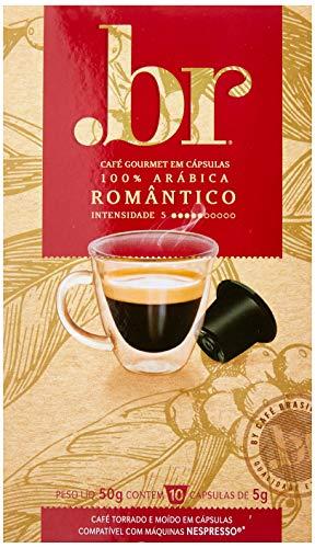 Café em Cápsula Romântico Int 5, Compatível com Nespresso, Contém 10 Cápsulas