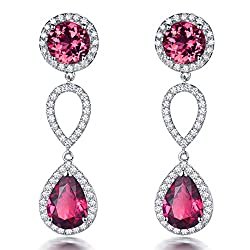 Natural Tourmaline Citirine Drop Earrings