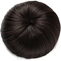 Onedor Synthetic Fiber Hair Extension Chignon Donut Bun Wig Hairpiece (4# - Dark Brown)