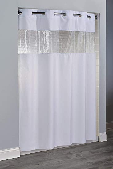 Image Unavailable Hampton Inn Hilton Hotels Exclusive Hookless Washable Fabric Shower Curtain