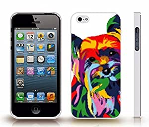 Case For Sam Sung Galaxy S4 I9500 Cover with Colorful Dog, Photomanipulation , Snap-on Cover, Hard Carrying Case (White)