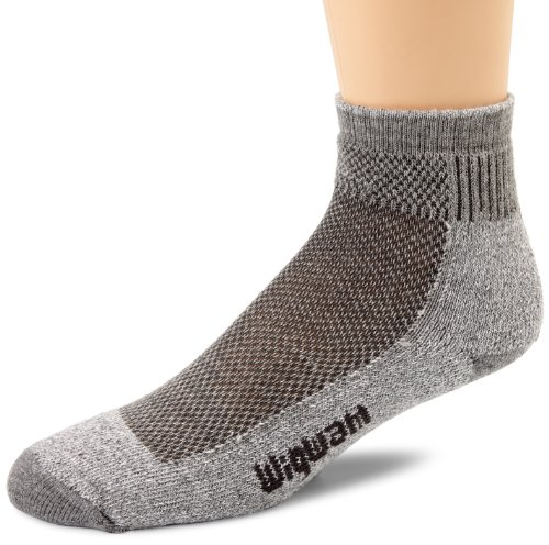 Quarter Socks Wigwam - Wigwam Men's Cool-Lite Hiker Pro Quarter Socks, Grey, X-Sock Size:10-13/Shoe Size: 6-12