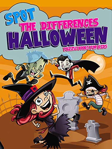 Spot the Differences - Halloween: Puzzle Books for Kids for $<!---->