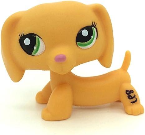 Rare Littlest Pet Shop Orange Dackel Dachshund Dog Puppy Green Eyes LPS #2597
