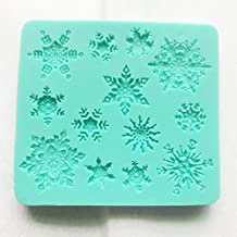 Allforhome Sillicone Snowflake Fondant and Gum Paste Silicone Resin Candy Moulds Cake Decoration Molds