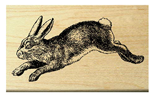 (Rabbit, Hare rubber stamp WM Deep etched)