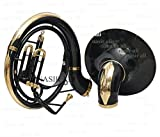 """eMusicals Sousaphone 24"""" Big bell Bb Pitch With Free Bag and MouthPiece , Black Color"""