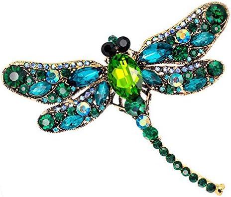 Doitsa ブローチ 胸元 中空 ラインストーン トンボ 輝く プレゼント ギフト キラキラ