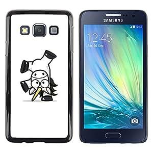 Caucho caso de Shell duro de la cubierta de accesorios de protección BY RAYDREAMMM - Samsung Galaxy A3 - Feliz Unicornio