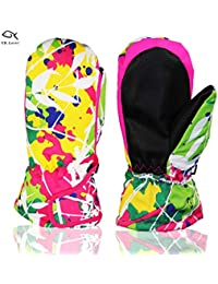 Children Ski Gloves Winter Warm Outdoor Riding Thickening...