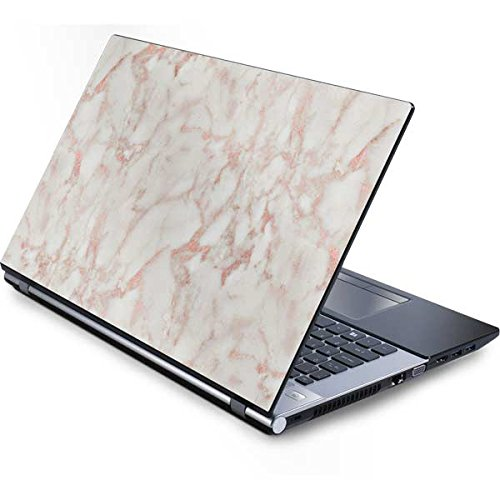 Skinit Marble Generic 17in Laptop (15.2in X 9.9in) Skin - Rose Gold Marble Design - Ultra Thin, Lightweight Vinyl Decal -