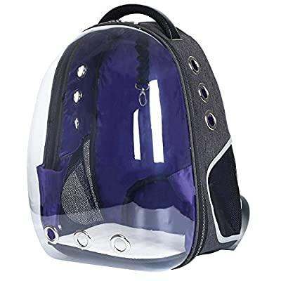 Lemonda Creative Transparent Pet Backpack Carrier Breathable Capsule Traveler Airline Approved for Cats and Dogs by Lemonda