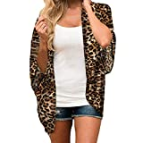 Randolly Womens Blouse,Ladies Summer Leopard Chiffon Beach Kimono Cardigan Blouse Shawl Loose Tops Outwear