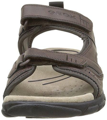 Strada Sandalias Sandal para A Geox Coffee Hombre Dk Marrãfâ³n Uomo WqUIcE