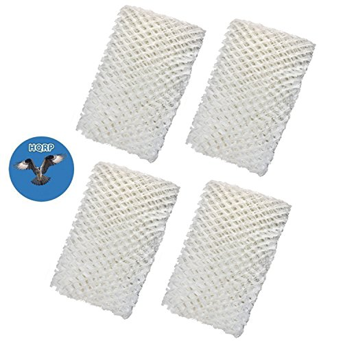 Price comparison product image HQRP 4-pack Wick Filter for Emerson HD1205 HD12050 HD1211 HD12110 HD12111 HD2412 HD24120 HD24121 MoistAIR Humidifier + HQRP Coaster
