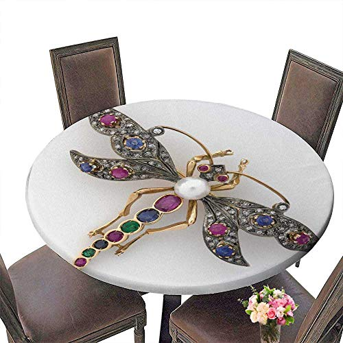 PINAFORE Round Premium Table Dragonfly Jeweled Brooch for Indoor, Outdoor 40