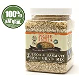 Pride Of India - Quinoa & Brown Basmati Rice Whole Grain Mix, 1.5 Pound Jar