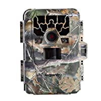"Trail Camera, Bestguarder Game Life Sercurty Wildlife Digital Camera with HD 12 MP 1080P 36PCS IR LEDs Waterproof IP66 detection Range 75ft 2.0"" LCD Screen"