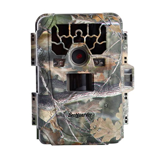 "Trail Camera, Bestguarder Waterproof IP66 Game Camera Life Sercurty Wildlife Digital Camera With 12 MP 1080P HD Time Lapse 65ft 60° Wide Angle Infrared Night Vision 36pcs IR LEDs 2.0"" LCD Screen"