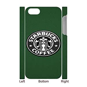 Design Cases iphone4 4S 3D Cell Phone Case White Starbucks Pwlbz Printed Cover