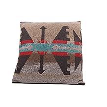 "Ruth&Boaz Inka Aztec Pattern Square Decor Pillow Case Cushion Cover (16""X16"") (16""X16"", B)"