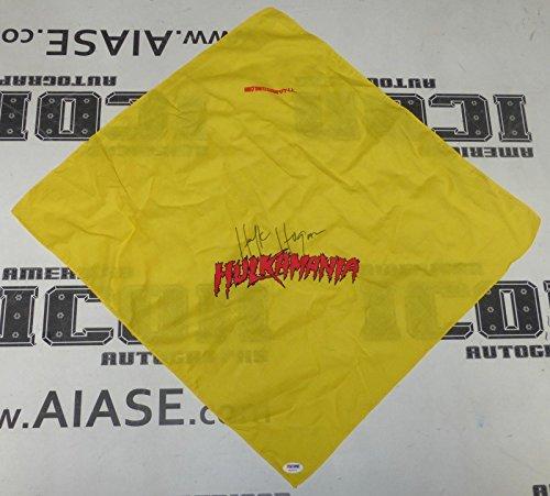 Hulk Hogan Signed Hulkamania Bandana COA WWE TNA WCW Wrestling Autograph - PSA/DNA Certified - Autographed Wrestling Miscellaneous ()
