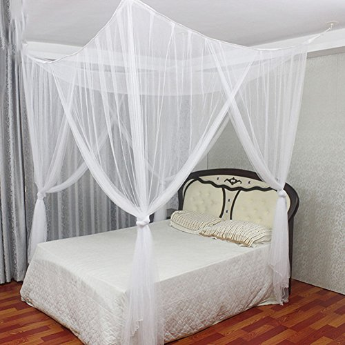 WALLER PAA Summer Luxury 4 Corner Canopy Bed Mosquito Net Full Queen King Size - Bag Singapore Ans