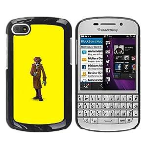 Paccase / SLIM PC / Aliminium Casa Carcasa Funda Case Cover para - Mystery Man Suit Cartoon - BlackBerry Q10