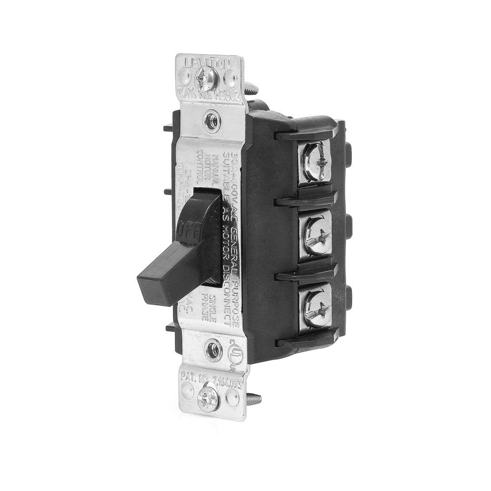 Double Pole Single Throw Switch 20 Amp Alfrescoheatingcom Leviton Ms303 Ds 30 600 Volt Three Phase Ac Motor Starter Suitable As Disconnect Toggle Industrial Grade Non Grounding