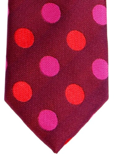 Skinny Pink Woven Color With Dots Retreez Various Two Red Tie and Polka Dots Colors Microfiber Hot Polka Pink YwAIqRO