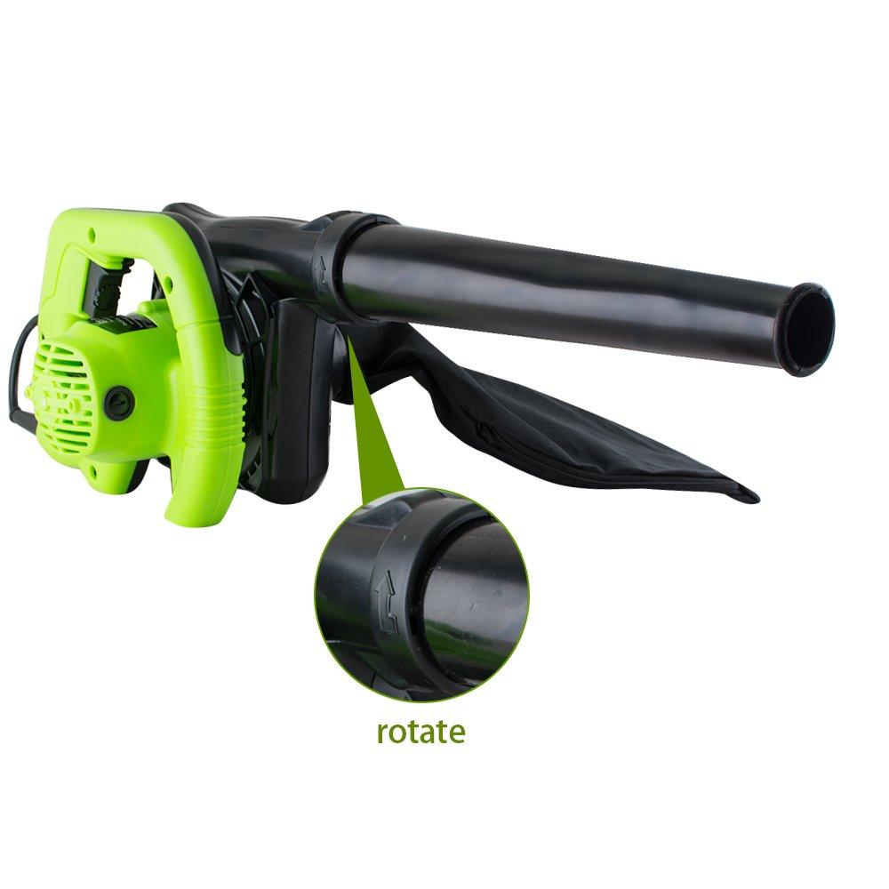 Ovovo Leaf Blower Electric Blower Green Corded Blower Vacuum Shredder Super Leaf Blower