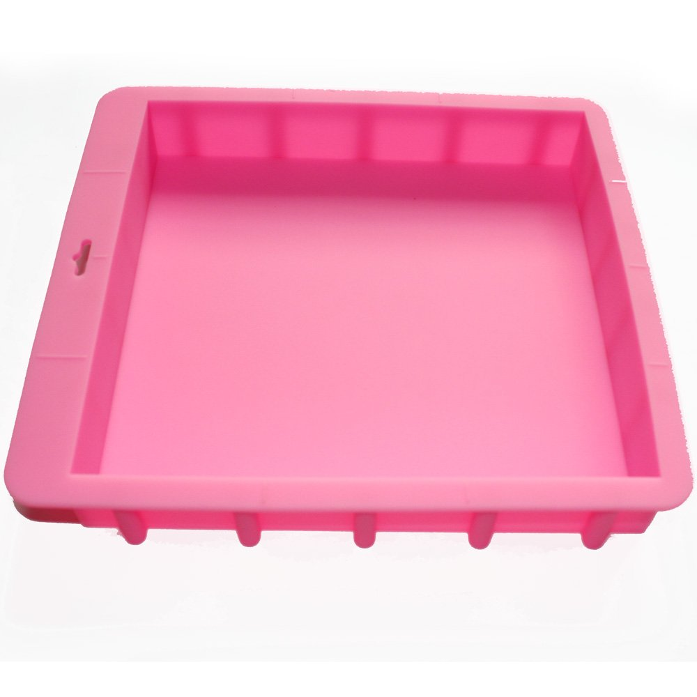 X-Haibei Loaf Square Soap Silicone Mold Pan for Swirling Soap Making Craft Hold 100oz(3kg) Soap Production