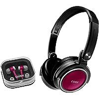 Kit com 2 Fones de Ouvido; headphone Dobrável e Earphone com Encaixe de Silicone, Coby, CV215