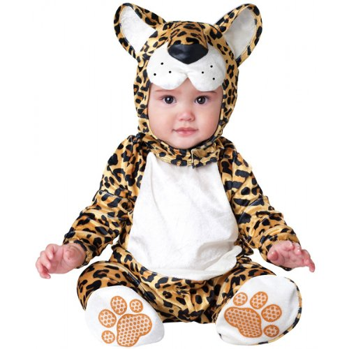 InCharacter Costumes Baby's Leapin' Leopard Costume, Yellow/Black, (Black Leopard Costumes)