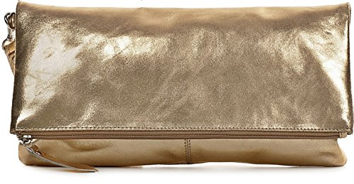 CNTMP - bolso para señora, clutch, bolso clutch,bolso de cuero metálico, bolsos de tendencia, bolsas, bolso de fiesta, bolso de mano, 32 x 17 x 2, 5 cm (l x an x a) Dorado Suave