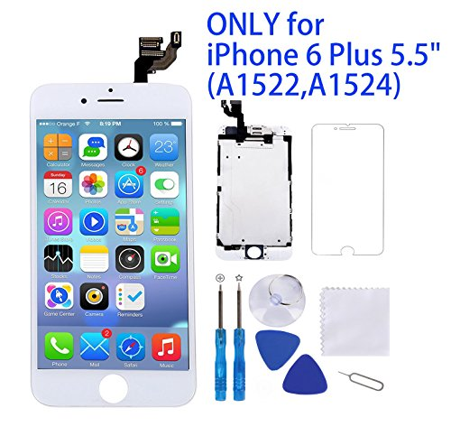 For iPhone 6 Plus Screen Replacement White 5.5