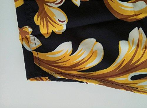 Barocco Y1782 Uomo Maniche Corte Lussuosa 11 Stampa Elegante A Pizoff Camicia xfHqtt
