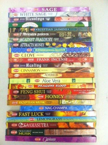 Hem Best Incense Stick Assorted Sampler 50 Packs x 8 Stick = 400 Sticks Bulk ()