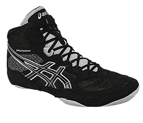 ASICS Men's Snapdown Wrestling Shoe, Black/Silver, 12 M US by ASICS