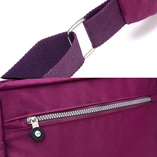 Poches à Femme Décontractée Sac Violet Nombreuses Bandoulière Imperméable de Sac Yujeet Zippées Fleur Modèle d'épaule pEZqCCw