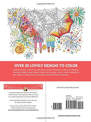 Creative Haven Let There Be Love Coloring Book Adult Alexandra Cowell 0800759805921 Amazon Books