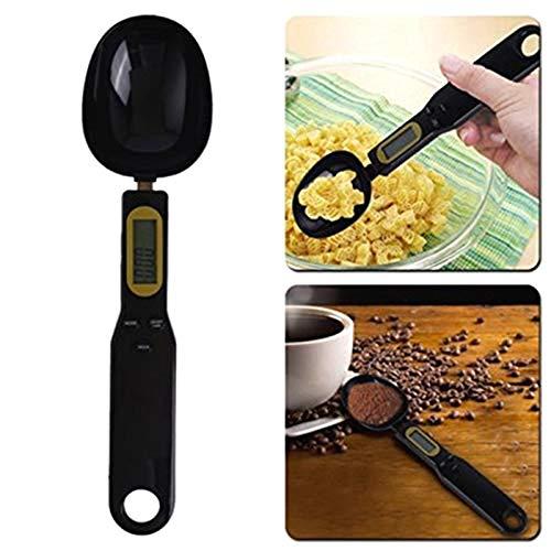PRINDIY Cucchiaio Bilancia Elettronica Digitale Cucchiaio Bilancia da Cucina Forniture per Cottura Display LCD da 500G 0,1G Cucchiaio da Cucina Digitale Nero