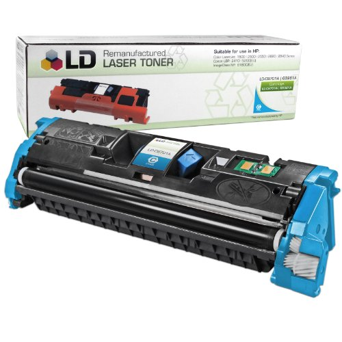 LD Remanufactured Toner Cartridge Replacement for HP 121A C9701A (Cyan)