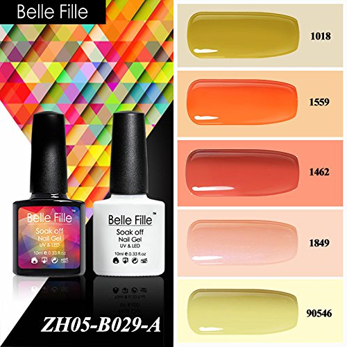 Belle Fille Nail Polish Pure Color UV LED Soak Off Solid Col