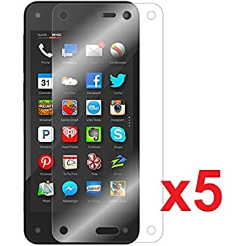 [5-PACK] Mr Shield Amazon Fire Phone Premium Clear Screen Protector with Lifetime Replacement Warranty high-quality